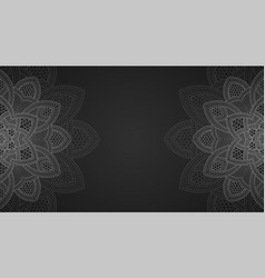 Banner with round abstract ornament circle vector