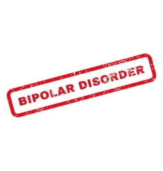 Bipolar Disorder Text Rubber Stamp vector