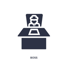 Boss icon on white background simple element from vector