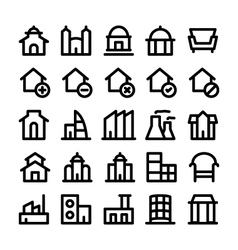 Buildings and Furniture Icons 3 vector image