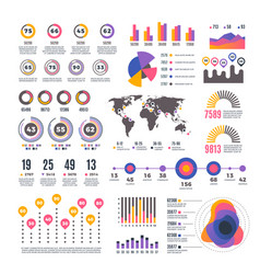 business strategy modern presentation infographic vector image