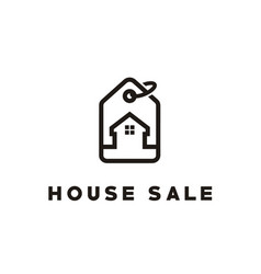 buy sale house estate price tag sale label logo vector image