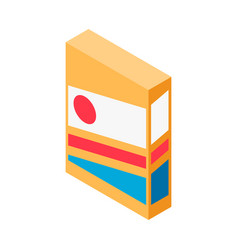 Cereal package icon vector