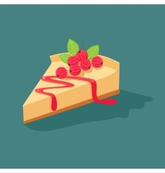 Cheesecake with currants vector image