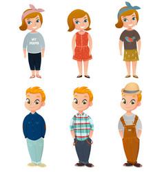 children clothing set vector image