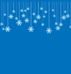 christmas background or invitation with hanging vector image