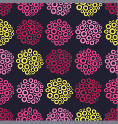 Colorful bubbles seamless pattern background vector