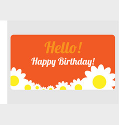 congratulations on your birthday with flowers vector image