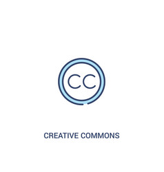 Creative commons concept 2 colored icon simple vector