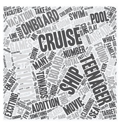 Cruise Ship Activities Geared Towards Teenagers vector