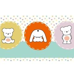 Cute bears vector