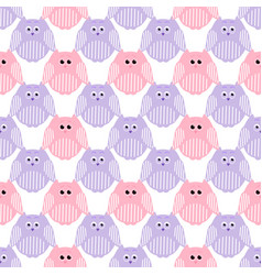 Cute pink and violet owls vector