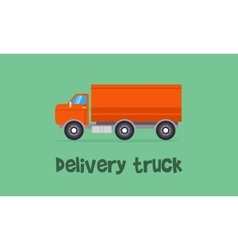 Delivery truck concept of vector