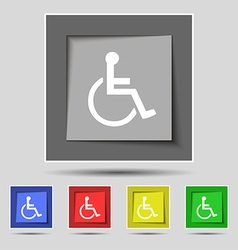 Disabled icon sign on original five colored vector
