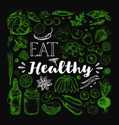 Eat healthy food vegetarian vector