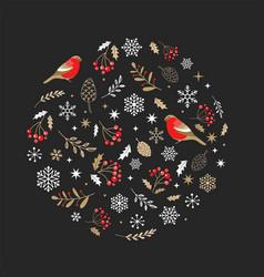 elegant gold and black christmas ornament vector image