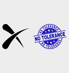 Erase icon and distress no tolerance stamp vector