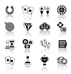Game icons set vector image