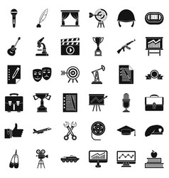 Good career icons set simple style vector