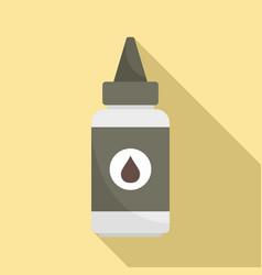 Hair dye bottle icon flat style vector