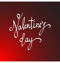 Happy Valentines Day Hand Drawing Lettering vector
