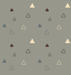 kids triangular seamless pattern vector image