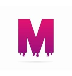 Letter M logo or symbol icon vector