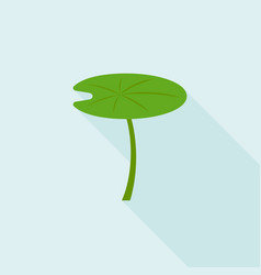 Lotus leaf icon flat design with long shadow vector