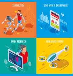 Medical technics design concept vector