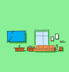 modern living room interior empty no people home vector image