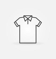 Modern t-shirt line icon tshirt symbol vector