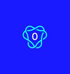 Number 0 logo icon design template creative vector