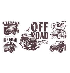 Off road logo template set vector