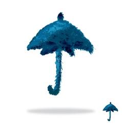 Oil painted umbrella vector