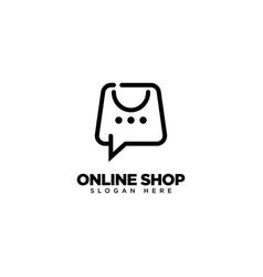 Online shop logo design shop sale discount store vector
