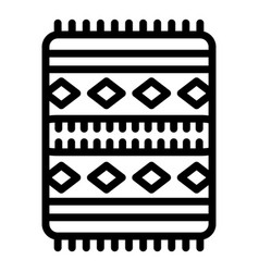 prayer mat icon outline style vector image