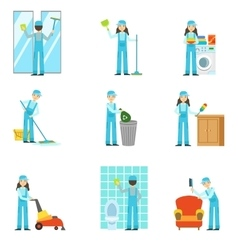 Professional Clean Up Service Set Of vector image