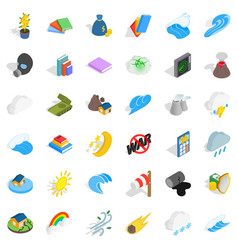 Protection icons set isometric style vector
