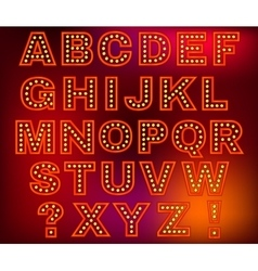 Retro Lights Letters vector
