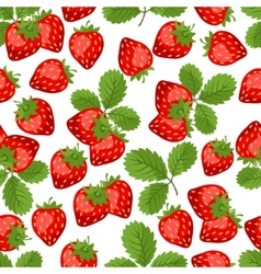 Seamless nature pattern with strawberries vector image