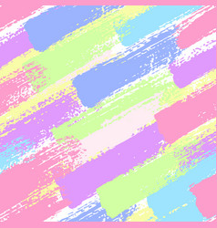seamless pattern with pastel color brush strokes vector image