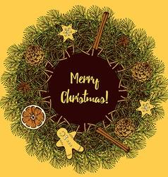 Sketch wreath vector image