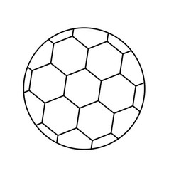 Soccer ball with brazilian isolated on white vector