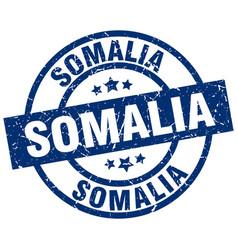 Somalia blue round grunge stamp vector