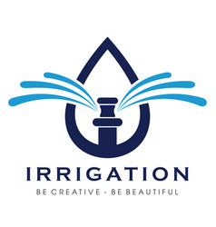 Sprinkler irrigation logo irrigation logo vector