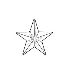 star hand drawn outline doodle icon vector image