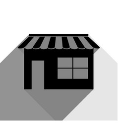 store sign black icon with vector image