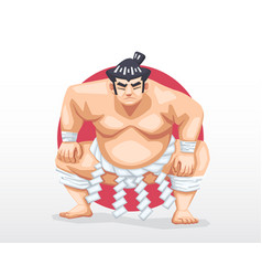 Sumo standing in crouch stance vector