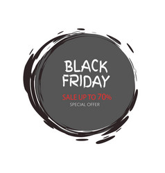 total sale mega offer black friday round sticker vector image