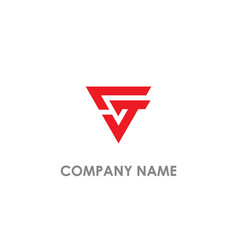 Triangle g initial business logo vector